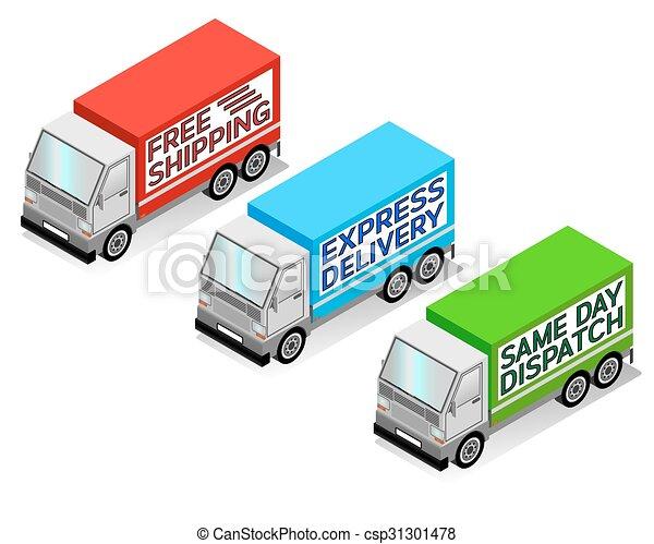 Delivery Trucks - csp31301478