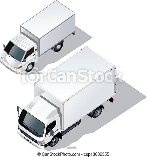 delivery trucks set - csp13682355