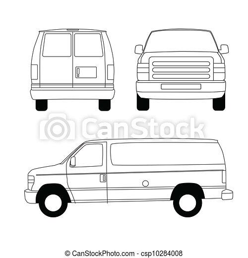 Delivery van blueprint delivery van line illustration stock delivery van blueprint csp10284008 malvernweather Images