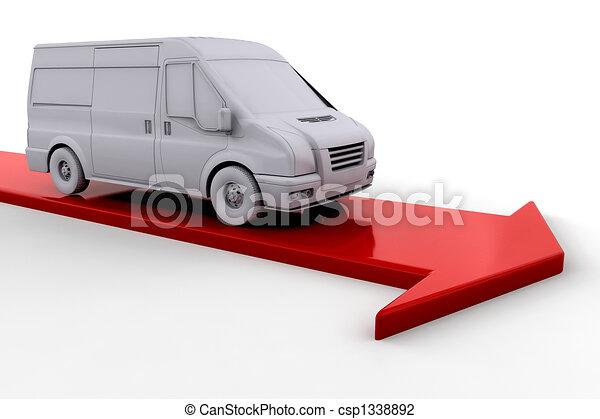 Delivery van - csp1338892