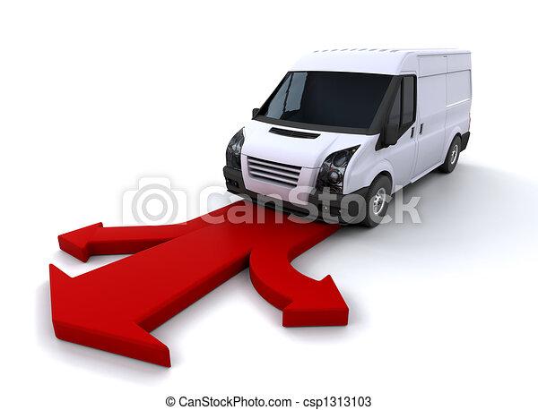 Delivery van - csp1313103