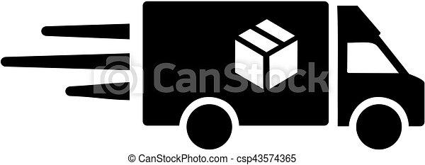 Delivery van for parcel - csp43574365