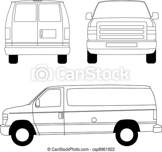 Delivery van - csp8961822