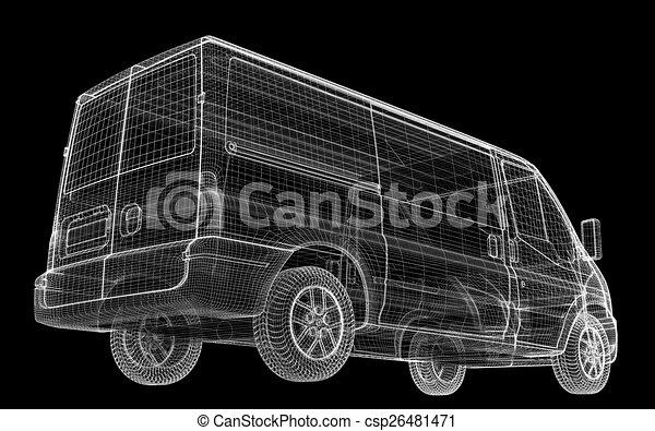 delivery van - csp26481471