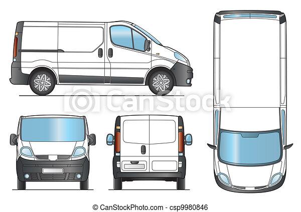 Delivery Van Template - Vector - csp9980846