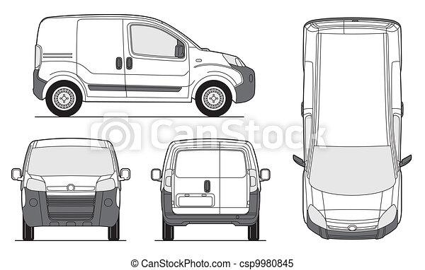 Delivery Van Template - Vector - csp9980845