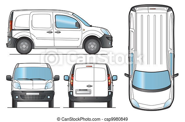 Delivery Van Template - Vector - csp9980849