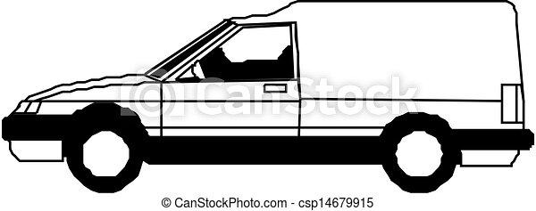delivery van - csp14679915