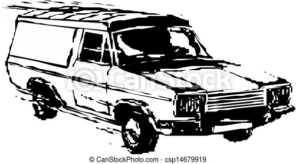delivery van - csp14679919