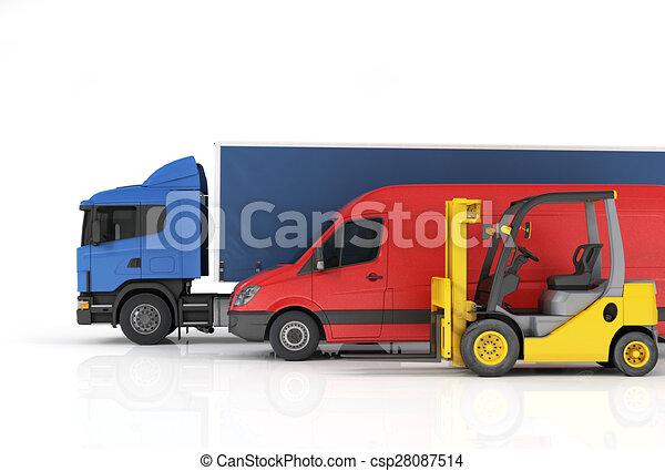 Delivery vehicles. - csp28087514