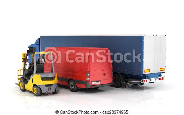 Delivery vehicles. - csp28374965