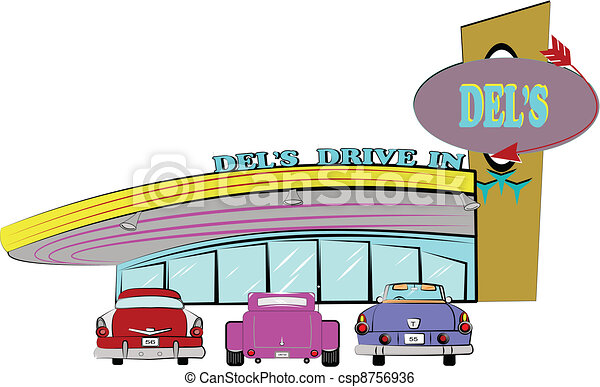 dels drive inn from the fifties - csp8756936
