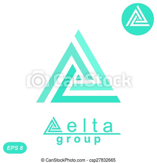 Delta Letter Logo Concept Delta Letter Logo Template 2d Flat