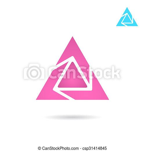 Delta Letter Logo On White Background D Triangle Sign 2d Raster