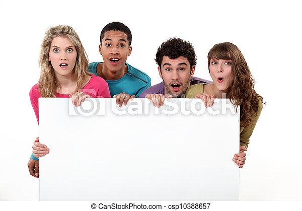 deltagare, holdingen, copyspace - csp10388657
