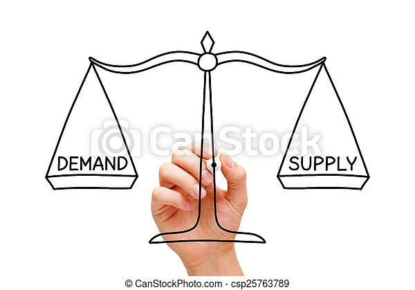 Demand Supply Scale Concept - csp25763789
