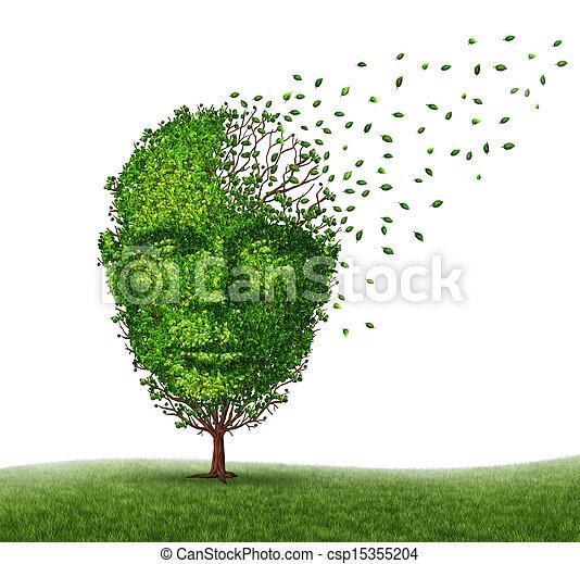 demencia, enfermedad - csp15355204