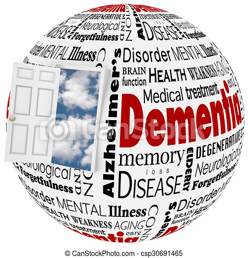 Dementia Alzheimer's Disease Losing Memory Brain Mind Disorder Condition - csp30691465