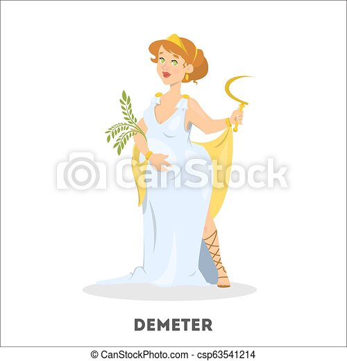 Demeter greek goddess from ancient mythology. Female character - csp63541214