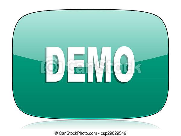 demo green icon - csp29829546