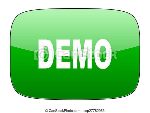 demo green icon - csp27782953