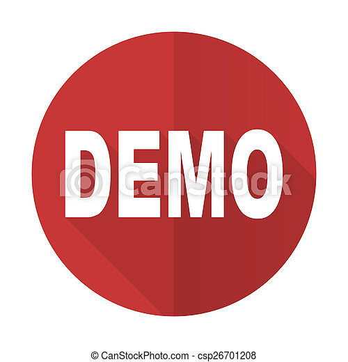 demo red flat icon - csp26701208
