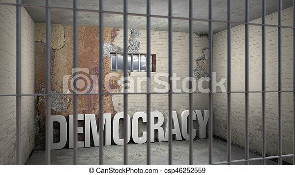democracia, prisión - csp46252559