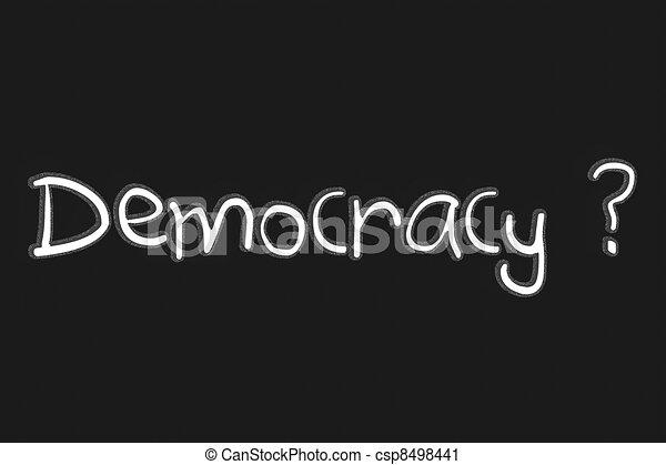 Democracy - csp8498441
