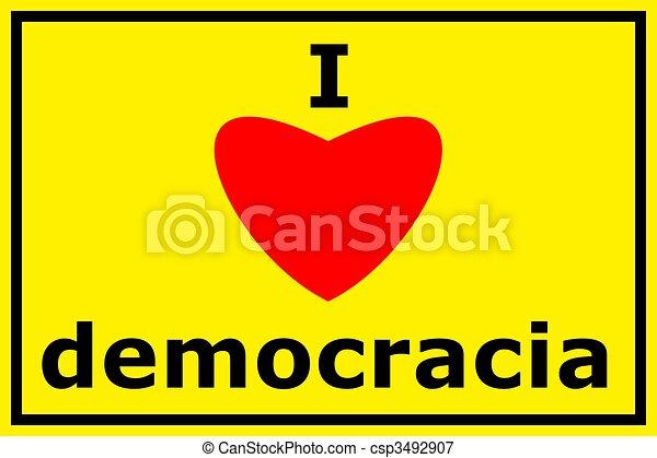 democracy - csp3492907