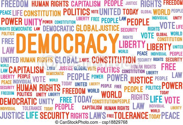 Democracy Word Cloud - csp18829768