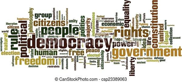 Democracy word cloud - csp23389063