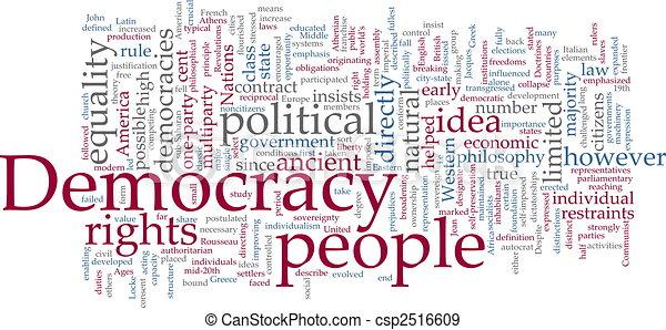 Democracy word cloud - csp2516609