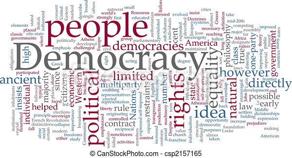 Democracy word cloud - csp2157165
