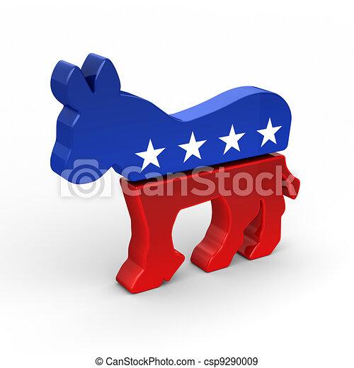 Democrat Donkey - csp9290009