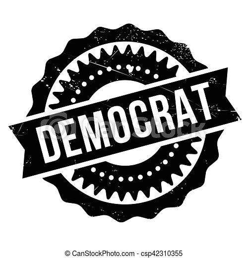 Democrat stamp - csp42310355
