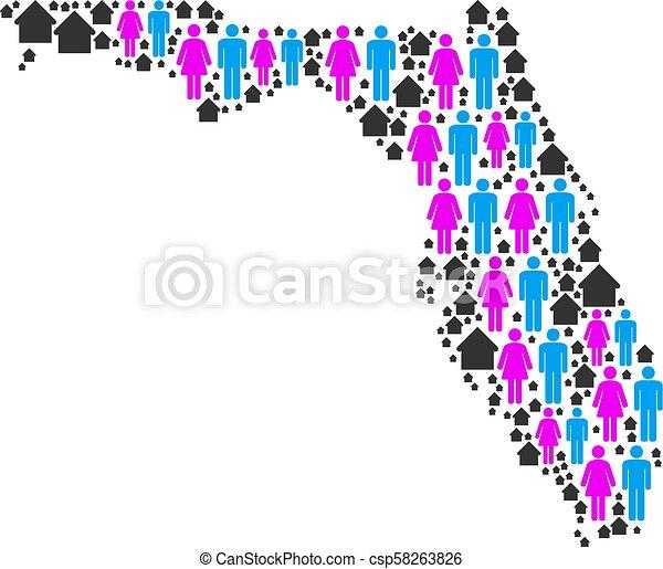 Demographics Florida Map - csp58263826