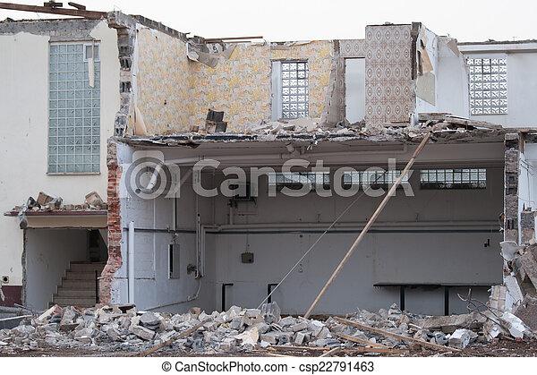 Demolished house - csp22791463