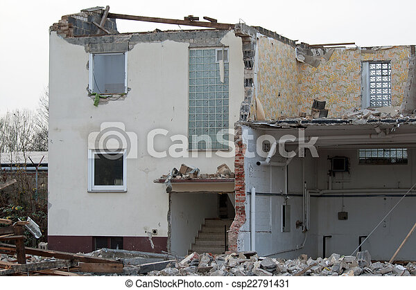Demolished house - csp22791431