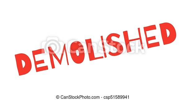 Demolished rubber stamp - csp51589941