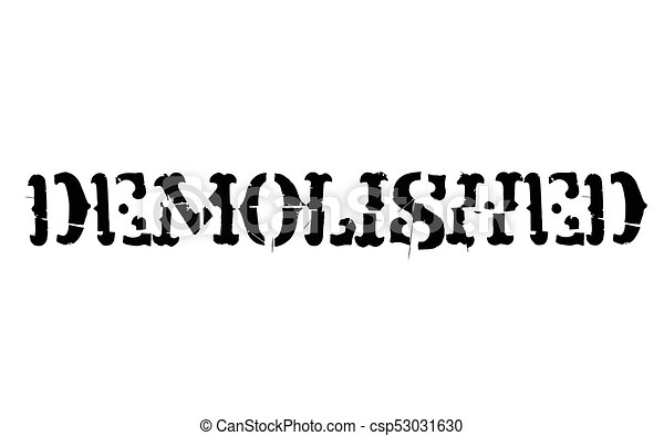 Demolished typographic stamp - csp53031630