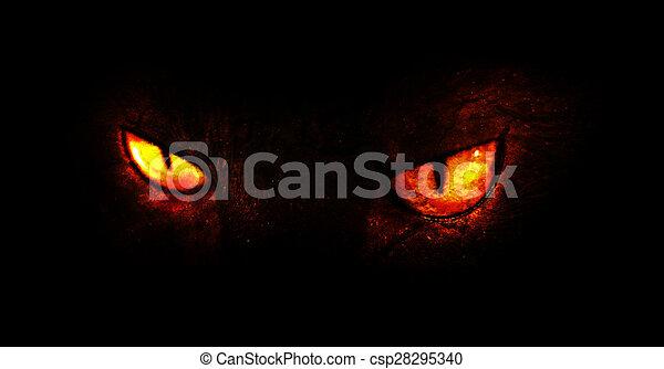 Demon Eyes An Illustration Of Burning Demonic Drawing
