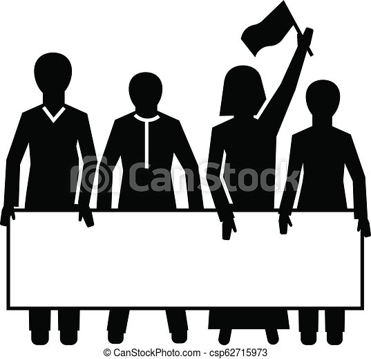 Demonstration crowd icon, simple style - csp62715973