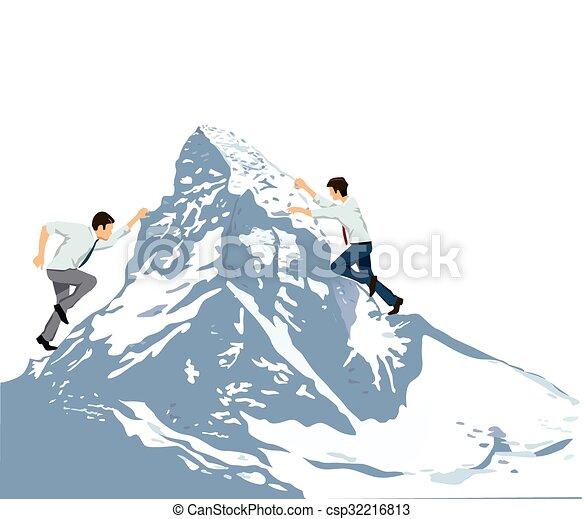 den Berg erklimmen - csp32216813