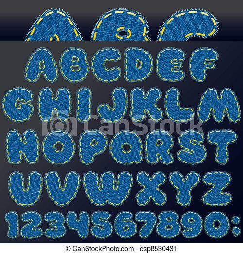 Denim Patch Font - csp8530431