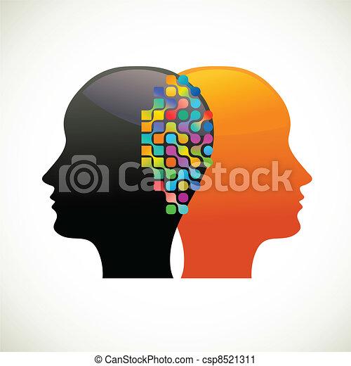 denken, mensen, communiceren, praatje - csp8521311