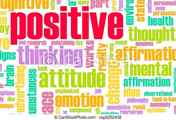 Ich denke positiv - csp5252436