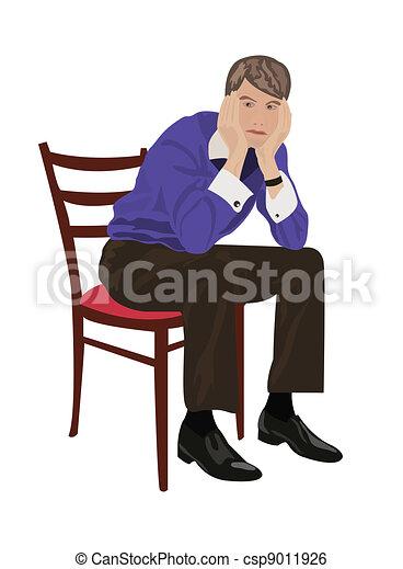 Mann Sitzt Auf Einem Stuhl-ClipArt-Vektor-ClipArt-Kostenlose Vector  Kostenloser Download