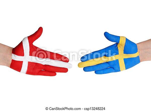 denmark and sweden - csp13248224