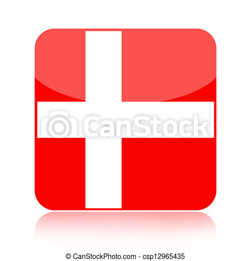 Denmark flag icon - csp12965435