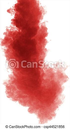 dense, fond, isolé, fumée, blanc rouge - csp44521856